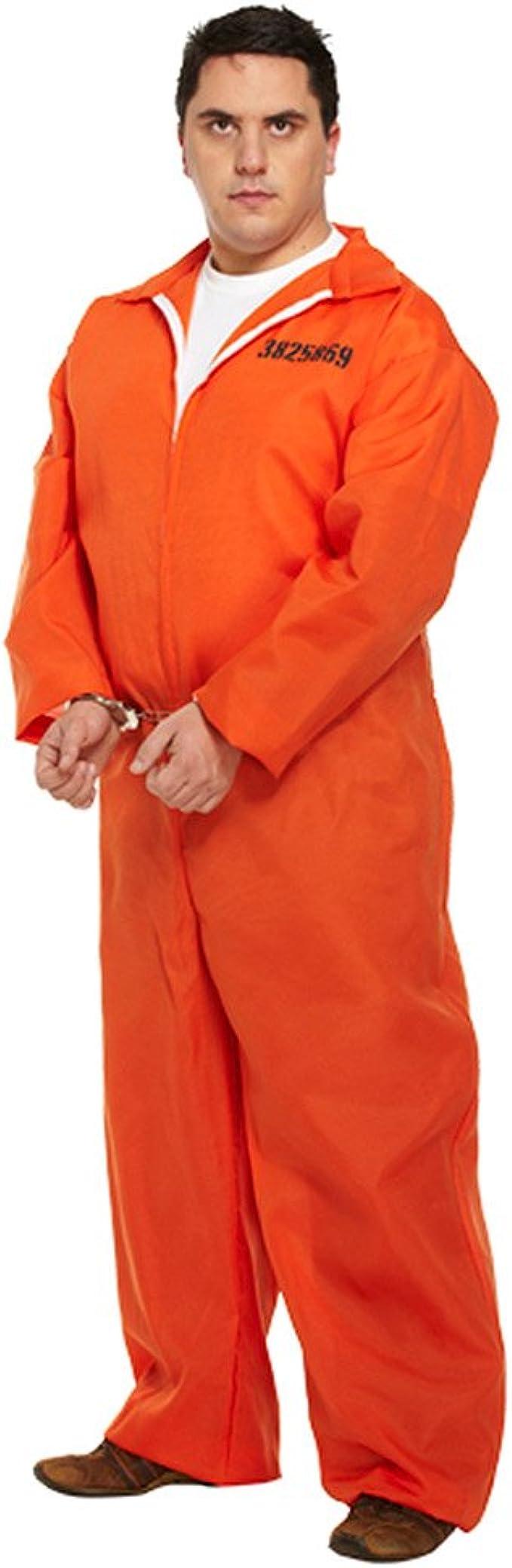 Amazon.com: Prisoner Plus tamaño disfraz (Naranja): Clothing