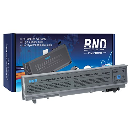 BND Laptop Battery [with Samsung Cells] for Dell Latitude E6400 E6410 E6500 E6510 / Precision M4400, fits P/N PT434 W1193 KY265 312-0748 - 24 Months Warranty [6-Cell 5200mAh/58Wh]