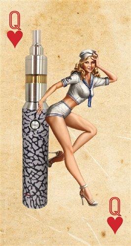 JWraps Pin Up Girl 2 Custom Designed E-Cigarette Protective Skin Wrap for Vapor Flask V2.1 DNA40 MOD Vaporizer