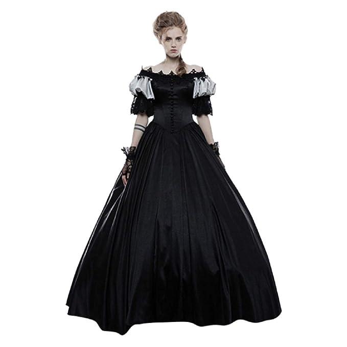 Amazon.com: Tsmile vestido medieval para mujer, estilo ...
