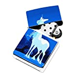 Unicorn - White Lighter Windproof Flip-Top Refillable with tin gift box
