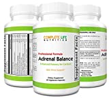 Adrenal Support and Cortisol Manager Supplement - Effective Stress Relief Herbs with Mood Enhancer - Energy Boosting Formula - Hormone Balance for Women or Men - Easy to Swallow - 60 Capsules