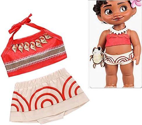 Niñas Verano Moana Princesa Tirantes Pantalones Cortos Disfraces ...