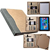 iCarryAlls Binder Portfolio Organizer, Business and Interview Padfolio with 3-Ring Binder, for The New Surface Pro 2017