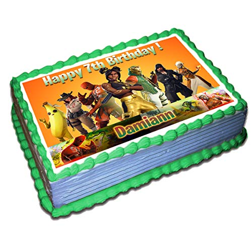 Price comparison product image Fortnite (8 Season) Personalized Cake Toppers Icing Sugar Paper 8.5 x 11.5 Inches Sheet Edible Frosting Photo Birthday Cake Topper Fondant Transfer (Best Quality Printing)