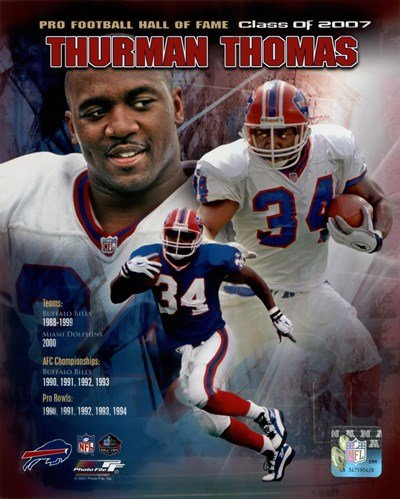 Thurman Thomas - legends Composite - 8x10 Inches - Art Print Poster