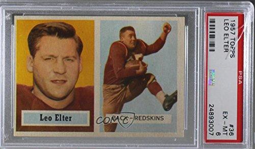 Leo Elter Graded PSA 6 EX-MT (Football Card) 1957 Topps - [Base] #36