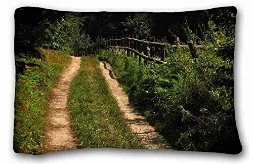 """Custom ( Nature Grass landscapes nature trees grass path Nature Grass ) Pillow Covers Bedding Accessories Size 20""""X30"""" suitable for Queen-bed"""