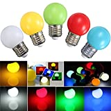 E27 Led Bulbs - E27 2w Pe Frosted Led Globe Colorful White/Red/Green/Blue/Ylellow Lamp Ac110-240v - Colorful Led Bulb Remote Color Controlled Viewing 110v 60hz - 2 Pack Changing Light - 1PCs