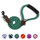 FitinPet Dog Leash with Comfortable Padded Handle Durable Rope 4 FT for The Perfect Length of Control Strong for Small Medium and Large Dogs - (Malachite Green,1.0x120cm)