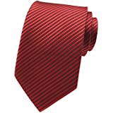 Elfeves Men Fashion Style Red Designer Inspired Tie Necktie Pretty Birthday Gift