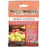 Matt's Munchies Organic Fruit Snack (1-Ounce Bag), Apple-licious, 12 Pack by Matts Munchies
