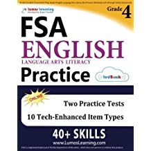 Florida Standards Assessments Prep: Grade 4 English Language Arts Literacy (ELA) Practice Workbook and Full-length...