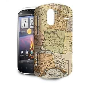 Phone Case For HTC Amaze 4G - Vintage USA Map Back Lightweight