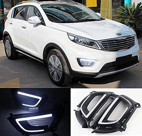 eemrke EE de 2015y01 de drla191 Auto LED Luz diurna - Blancas Luces - para Kia Sportage R 2014 2015: Amazon.es: Coche y moto