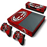 TURXIN Xbox One Console and Controller Skin Set - AC Milan Soccer Design - Xbox One Vinyl