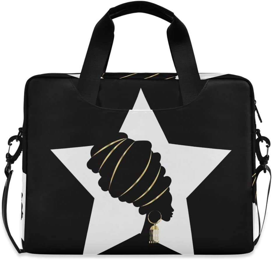 Laptop Shoulder Bag Carrying Briefcase Handbag Sleeve Case Portrait Beautiful African Woman 0083 Cute Laptop Cases 15.6 for Women