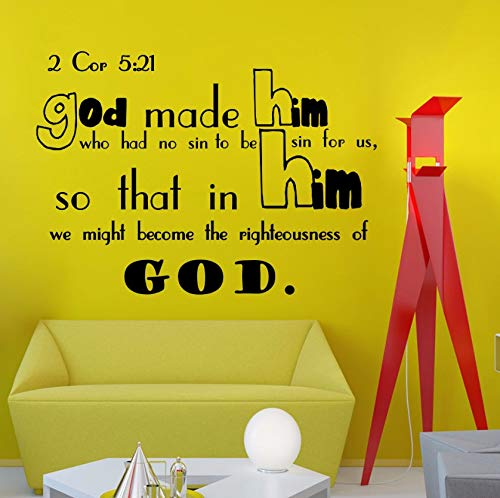 (Dalxsh Wall Decals Bible Verse Psalms God Made Him Vinyl Wall Sticker Quotes Living Room Wall Tattoo Art Mural)