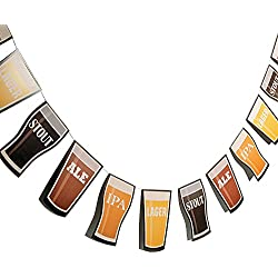 Fun Express 7' Cardboard Beer Garland Octoberfest Party Decorations