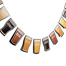 Fun Express 7′ Cardboard Beer Garland Octobe...
