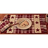 Burgundy Farmhouse Star Placemat - Set of 4