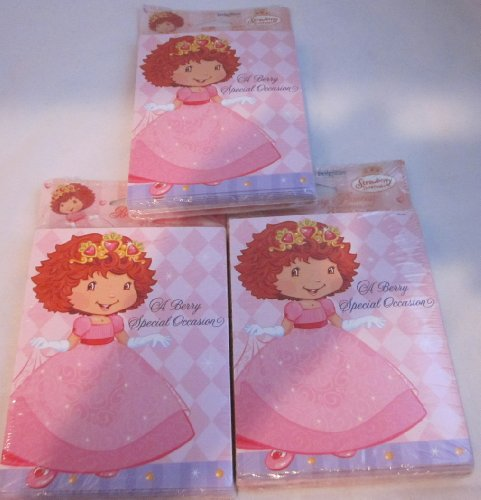 Strawberry Shortcake Party Invitations with Thank You Postcards Set of 24 -