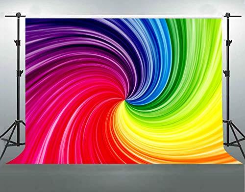 F-FUN SOUL Colors Backdrop Soft Fabric 7 Colors Rainbow Photography Backgrounds Artistic Portrait Photo Video Studio Props Room Decoration 7x5ft FS009