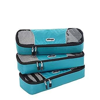eBags Slim Packing Cubes - 3pc Set (Aquamarine)