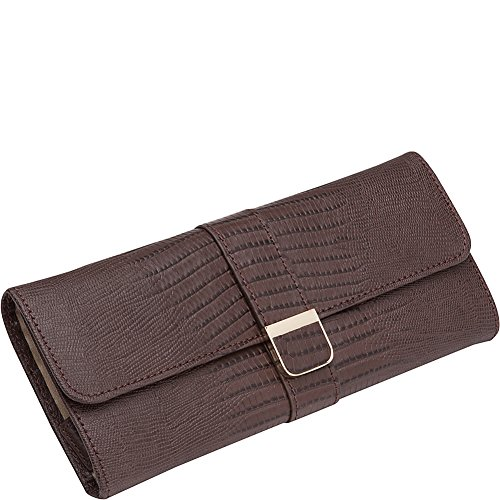 WOLF 213495 Palermo Jewelry Roll, Brown by WOLF