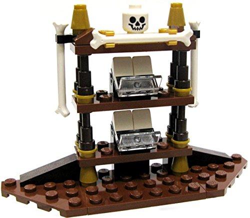 LEGO Pirates of the Caribbean Items Gothic Shelf with Bones & Skull [Loose] Pirate Caribbean Skull Bones