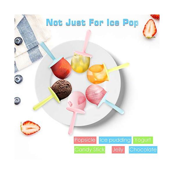Nuovoware Stampi per Gelato, 6 Pz Stampo Triangolare per Ghiaccioli in Premium Silicone Senza BPA Ice Pop Maker con… 5 spesavip