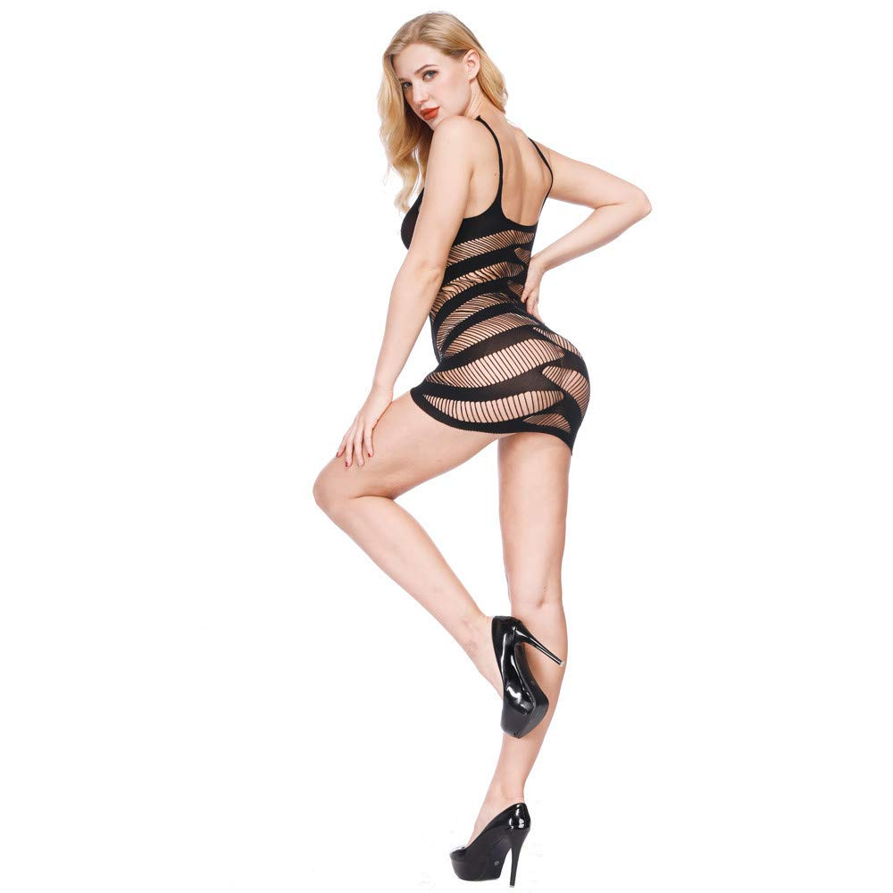 6b75e74f27 Amazon.com  See-through Lingerie Dress for Women for Sex- Jiayit Clearance  Womens Transparent Mesh Bodystockings Bodycon Sexy Underwear Dress  Beauty