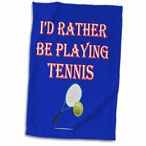 (3D Rose Id Rather be Playing Tennis Game Score Winning Popular Saying TWL_213138_1 Towel, 15