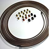 "25 Ft. of 3/16"" (4.75 mm) Copper Nickel Brake Line with Fittings"