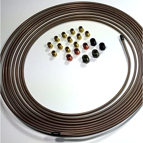 """25 Ft. of 3/16"""" (4.75 mm) Copper Nickel Brake Line with Fittings for cheap"""
