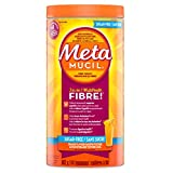 Metamucil Fiber Orange Flavour Smooth Texture, Sugar Free, 114 doses