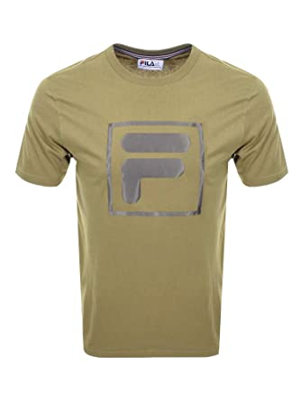 b07cad30d Fila Mens Alexis Tonel Twill F Box T-Shirt in Drygrass Green: Amazon.co.uk:  Clothing