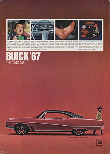 Buick Car Wildcat - The Tuned Car - Buick Wildcat Custom Sport Coupe ad 1967 NY