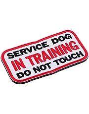 Homyl Service Dog No Touch No Talk, service hond embleem geborduurde patch met klittenbandsluiting