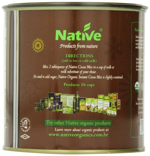Native USA Organic Cocoa Instant Powder Mix, 14.1 Ounce(Pack of 4)