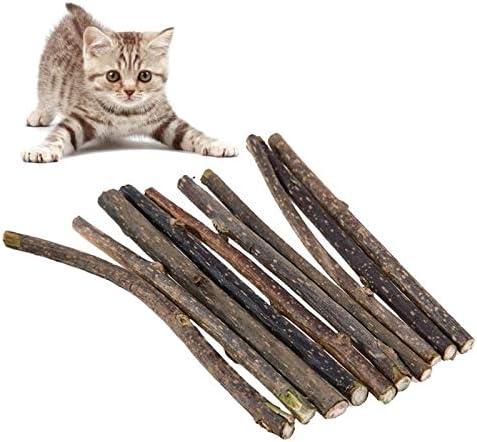 髪のボールグラブ噛まないようにHZG猫ウッドスコーピオンキャットミントモルスティック(3個/パック) 楽しいファッション (Color : 10 Pcs/Pack)