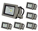 LEDwholesalers 10.5-Watt LED Waterpoof Outdoor Security Floodlight 12 Volt DC, White (6-Pack), 3711WH-12Vx6 Review