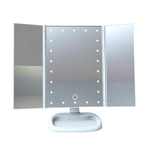 Espejo de mesa cosmético iluminado Espejo de cortesía para ...
