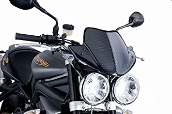 Puig 3930H Windshield for Triumph Speed Triple 2005-2010/ Street Triple  2007-2010/ Street Triple R 2009-2010, Smoke, Medium