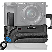 SAMTIAN BG-3FIR Vertical Battery Grip Holder IR Infrared Remote Control with Micro USB Charging Port Replacement for Sony A6000 A6300/A6000 ILDC Mirroless Camera Work with 1 or 2PCS NP-FW50 Battery