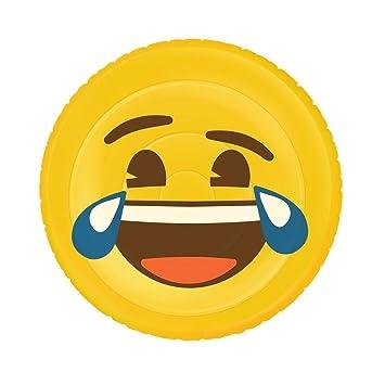 Emoji Inflable Flotador Cara Graciosa XL, piscina y playa, Ø 140 cm: Amazon.es: Juguetes y juegos
