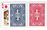 Hoyle Shellback Playing Cards: 12 Decks of Poker Size, Regular Index Playing Cards (Half Red and Half Blue Decks)