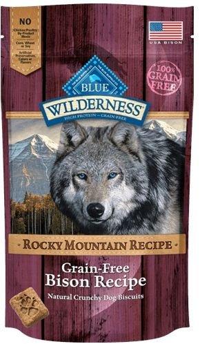 BLUE Wilderness Rocky Mountain Recipe Trail Treats Bison Biscuits , 8 oz (Recipes Bison)