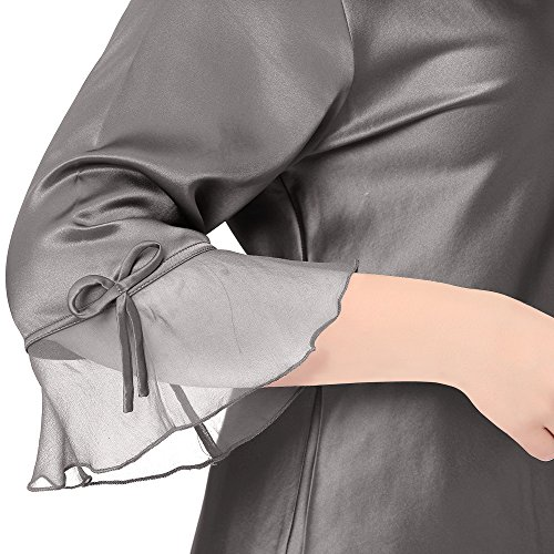Lilysilk Conjunto de Pijama de Seda De 22 Momme Con Cordones Talla Grande Varios Colores Y Tallas Disponibles Gris Oscuro