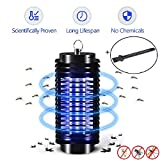 Electric Mosquito Killer Lamp,Mosquitoes Bug Zapper,LED Insect Repeller,Pest Bug Killer Trap No Radiation Non-toxic Pest Zapper UV light Trap Lamp for Standing Hanging with Cleaning Brush- INDOOR ONLY